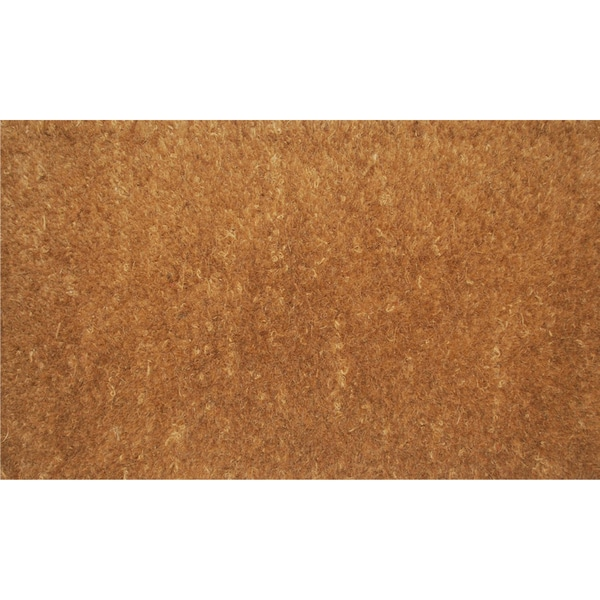Natural Coir Natural Thick Door Mat (1'6 x 2'6)