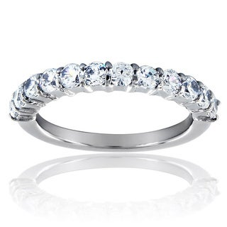 Stainless Steel Dazzling Cubic Zirconia Band Ring