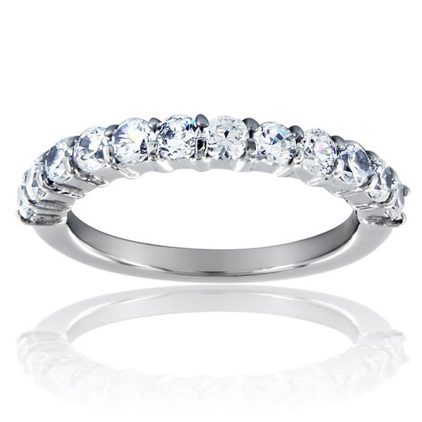 Stainless Steel Stackable Cubic Zirconia Band Ring