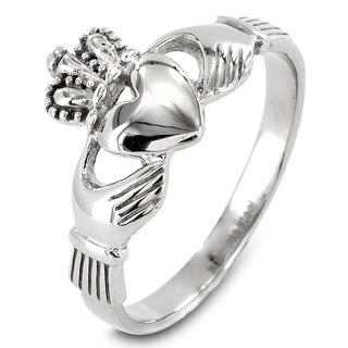 Elya Designs Stainless Steel Irish Claddagh Ring