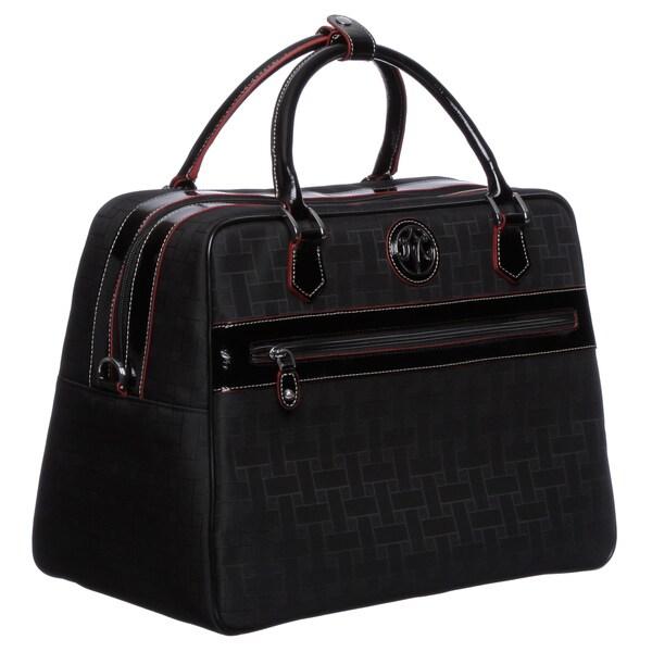 Johnston & Murphy 84-24321 Women's 'Mallory' Black Carry-on Laptop Tote Bag