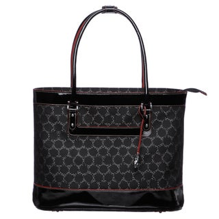 Johnston & Murphy 'Mallory' Black Multi Pattern Laptop Tote Bag