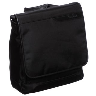 Johnston & Murphy Dividends Black Nylon Notebook / iPad Mini Messenger Bag