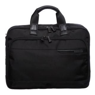 Johnston & Murphy 46-15541 Dividends Black Nylon Collection Deluxe Expandable Briefcase