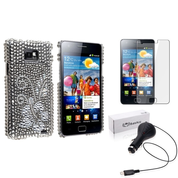 BasAcc Case/ Screen Protector/ Charger for Samsung© Galaxy / S2 i9100