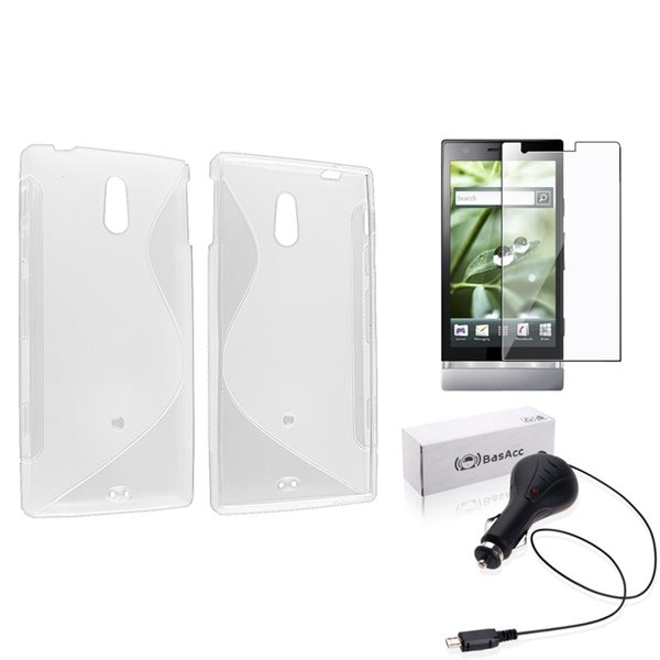 BasAcc TPU Case/ Screen Protector/ Car Charger for Sony Xperia P LT22i