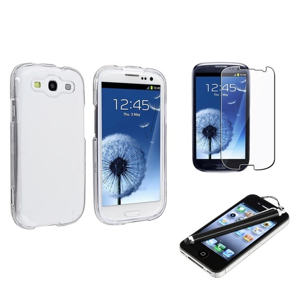 INSTEN Crystal Phone Case Cover/ Screen Protector/ Stylus for Samsung Galaxy SIII/ S3