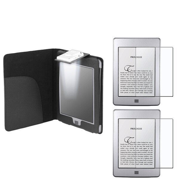 BasAcc Black Case/ Anti-glare Screen Protector for Amazon Kindle Touch