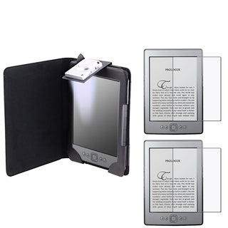 BasAcc Leather Case/ Anti-glare Screen Protector for Amazon Kindle 4