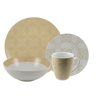 Chloe Tan 16 Piece Dinnerware Set