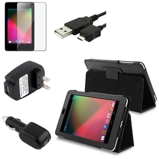BasAcc Leather Case/ Charger/ Protector/ Cable for Google Nexus 7