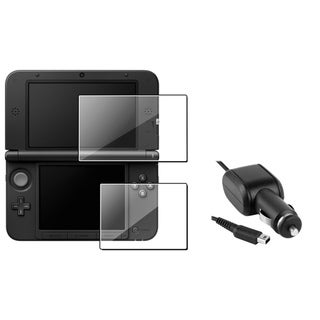 INSTEN Car Charger/ Screen Protector for Nintendo 3DS/ XL