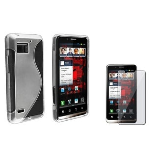 BasAcc TPU Rubber Case/ LCD Protector for Motorola Droid Bionic XT875