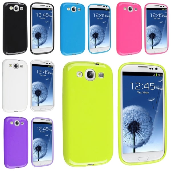 BasAcc TPU Rubber Case Set for Samsung Galaxy S III/ S3