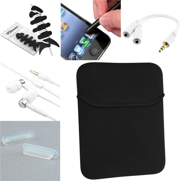 BasAcc Sleeve/ Headset/ Wrap/ Stylus/ Splitter for Apple iPad 2