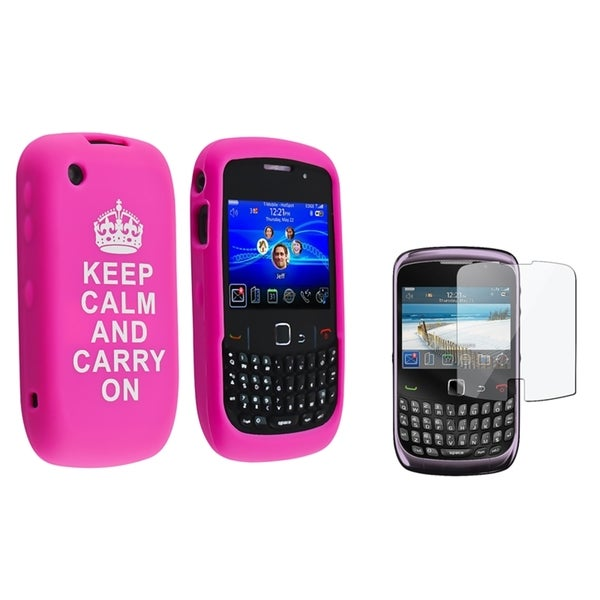 BasAcc Silicone Case/ Screen Protector for BlackBerry Curve 9300/ 9330