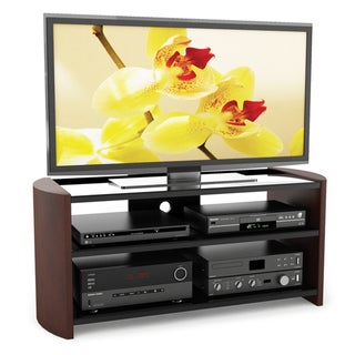 Sonax Milan 49-inch TV Stand with Wood Veneer Uprights