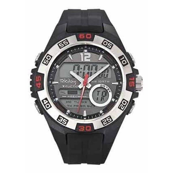 Tekday Men's Digital Dual-time Watch