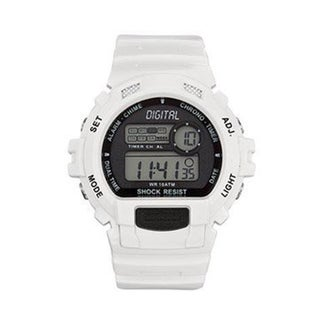 Tekday Men's White Digital Watch