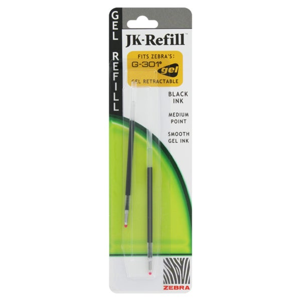 Zebra Refills for G301 Rollerball Medium Point Pens (Pack of 6)