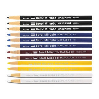 Berol Mirado China Assorted Markers Grease Pencils (Pack of 12)