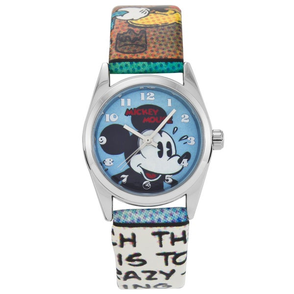 Ingersoll Women's Disney Mickey Mouse Watch with Multicolor Strap