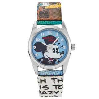 Ingersoll Disney Vintage Design Mickey Mouse Watch with Cartoon Strap