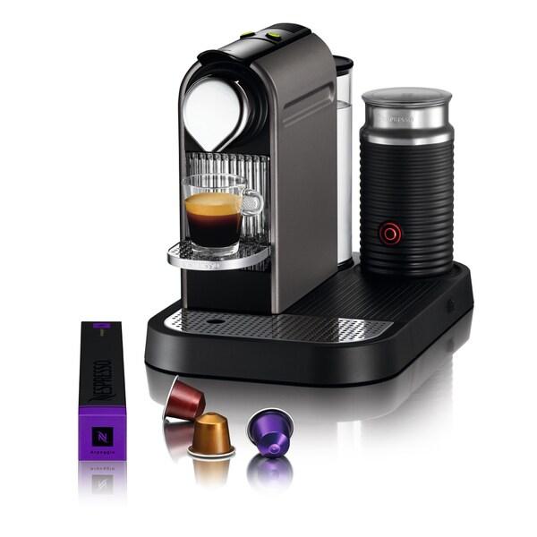 Nespresso Titanium CitiZ & Milk Espresso Machine (Refurbished)