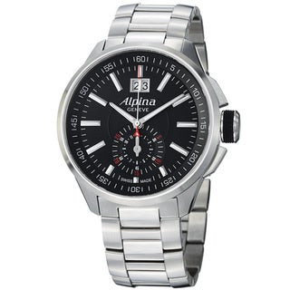 Alpina Men's AL-353B5AR36B 'Racing' Black Dial Stainless Steel Chronograph Watch
