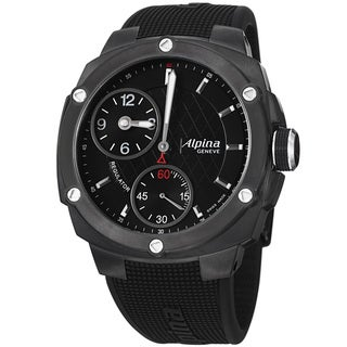 Alpina Men's AL-650LBBB5FBAE6 'Adventure' Black Dial Rubber Strap Mechanical Watch