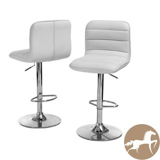 Christopher Knight Home Agoura White PU Barstools (Set of 2)