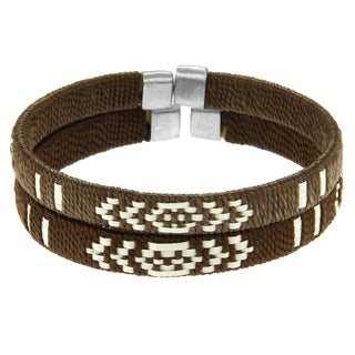 Set of 2 Cana Flecha Brown/ Natural Bracelet (Colombia)