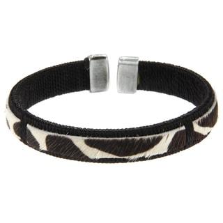 Giraffe Leather Cuff Bracelet (Colombia)