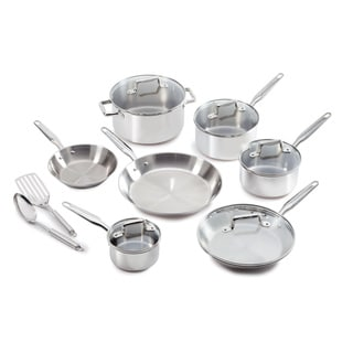 Ultimate Stainless Steel Copper Bottom 12-piece Set