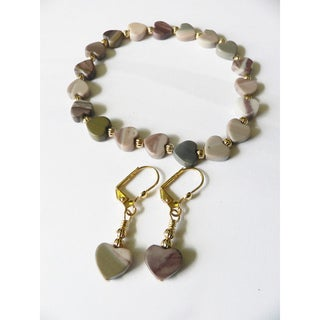 'Hearts in Atlantis' Bracelet and Earring Set