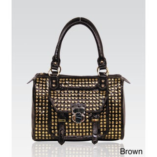 Galian Studded Satchel Bag