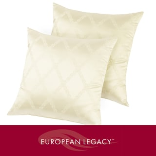 European Legacy Silk Jacquard Decorative Accent Pillows (Set of 2)