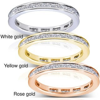 14k Gold 1ct TDW Princess Diamond Eternity Ring (G-H, SI1-SI2)