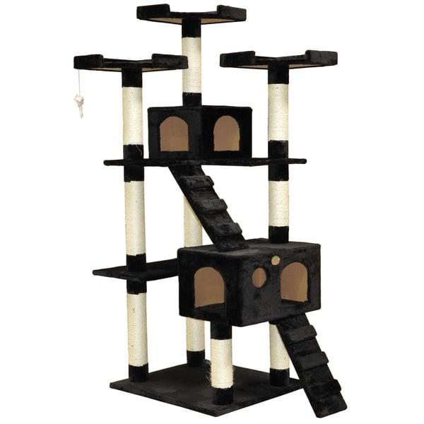 Go Pet Club 72-inch High Black Cat Tree