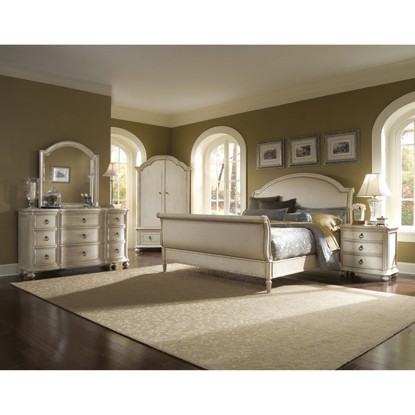 Provenance Upholstered Sleigh 5 Piece King Size Bedroom Set 14787157 Shopping