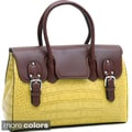 Dasein Croco Chic Briefcase-style Satchel