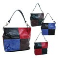Dasein Colorblock Croco Embossed Hobo Bag