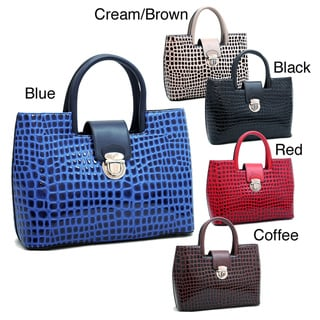 Dasein Petite Croco Embossed Tote Bag