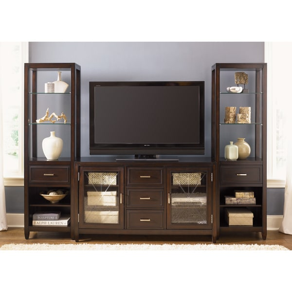 liberty caroline 60 inch tv stand and 2 pier entertainment set 14790344. Black Bedroom Furniture Sets. Home Design Ideas