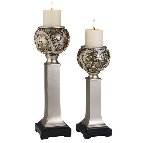 Silver Vine Candle Holder Set