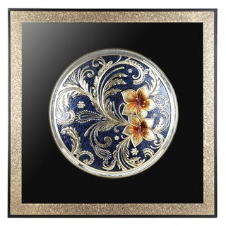 Cherry Blossoms Square Wall Plaque