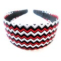Crawford Corner Shop Red Black Zig Zag Headband