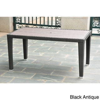 International Caravan Resin Wicker/Aluminum Outdoor Table