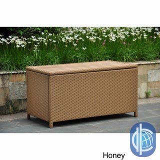 International Caravan Barcelona Resin Wicker/Aluminum Outdoor Storage Trunk
