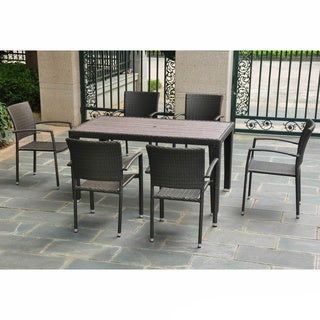 International Caravan Resin Wicker 7-piece Patio Table Set